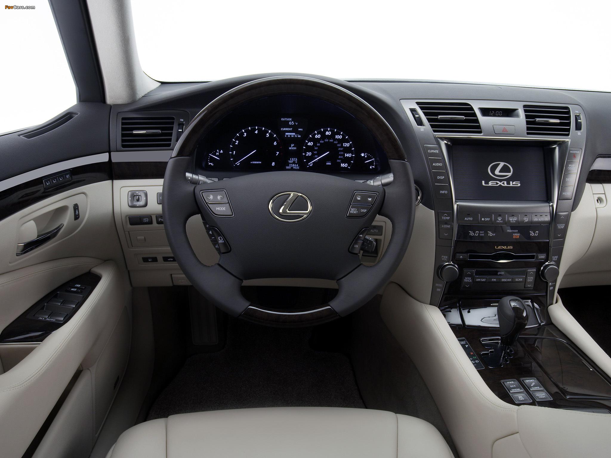 Lexus LS 460 (USF40) 2006–09 wallpapers (2048 x 1536)