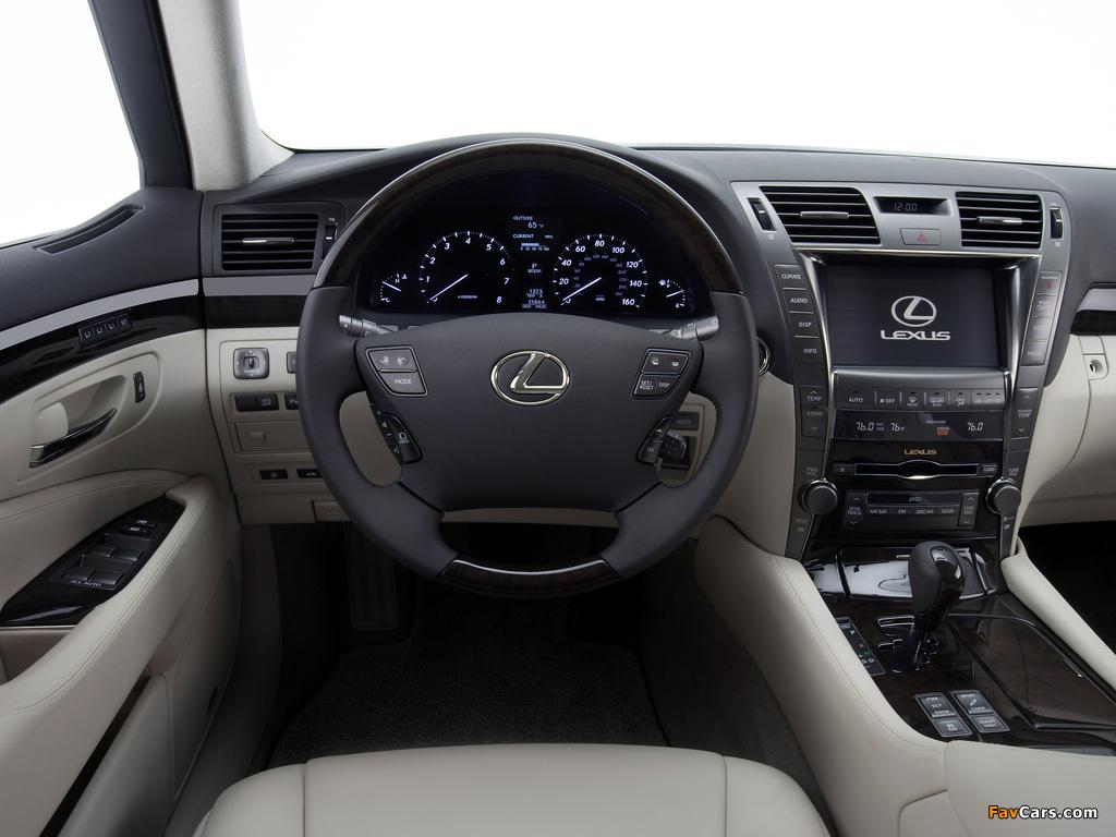 Lexus LS 460 (USF40) 2006–09 wallpapers (1024 x 768)