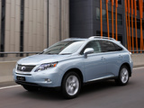 Lexus RX 450h AU-spec 2009–12 photos