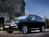 Lexus RX 450h UK-spec 2009–12 pictures