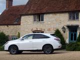 Lexus RX 450h F-Sport UK-spec (AL10) 2012–15 images
