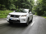 Lexus RX 450h F-Sport UK-spec (AL10) 2012–15 images