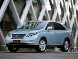 Photos of Lexus RX 450h AU-spec 2009–12