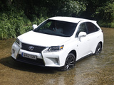 Pictures of Lexus RX 450h F-Sport UK-spec 2012