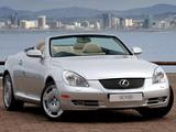 Lexus SC 430 ZA-spec 2008–10 images