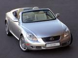 Lexus SC 430 ZA-spec 2008–10 pictures