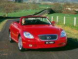 Pictures of Lexus SC 430 AU-spec 2001–05