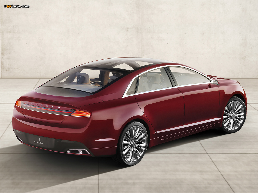 Lincoln MKZ Concept 2012 wallpapers (1024 x 768)