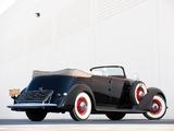Lincoln Model K Dual Windshield Convertible Sedan by LeBaron 1936 wallpapers