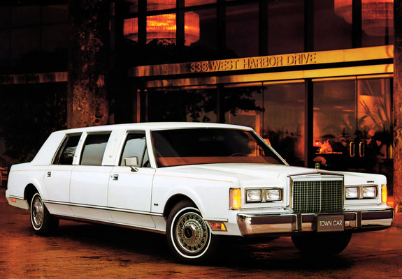 Lincoln Town Car Limousine 1985 89 Wallpapers