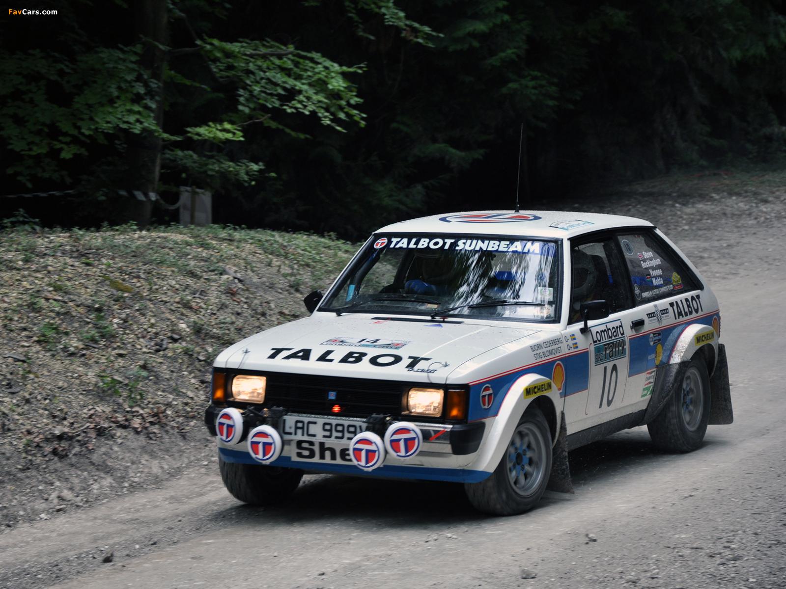 Talbot Sunbeam Lotus Rally Version 1979–81 wallpapers (1600 x 1200)