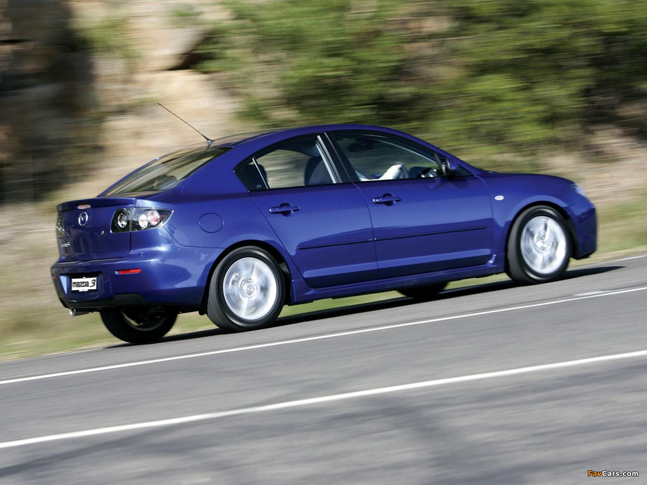 Images of Mazda3 Sedan AU-spec (BK2) 2006–09 (1280 x 960)