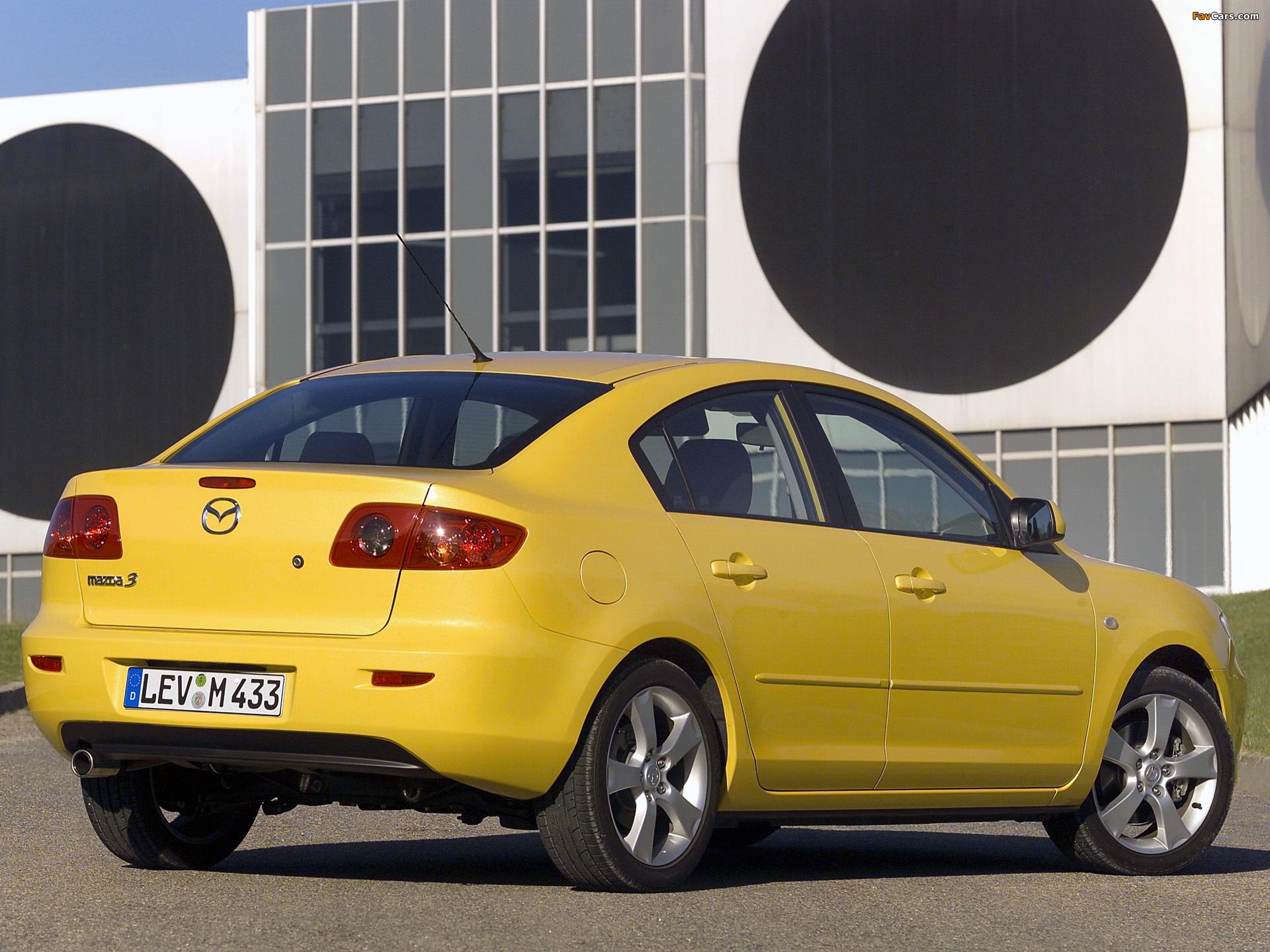 Mazda3 Sedan (BK) 2004–06 images (1920 x 1440)
