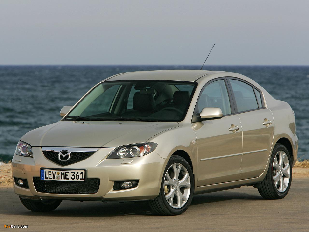 Mazda 3 Sedan 2006–09 photos (1280 x 960)