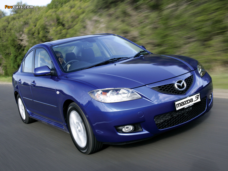 Mazda3 Sedan AU-spec (BK2) 2006–09 pictures (800 x 600)