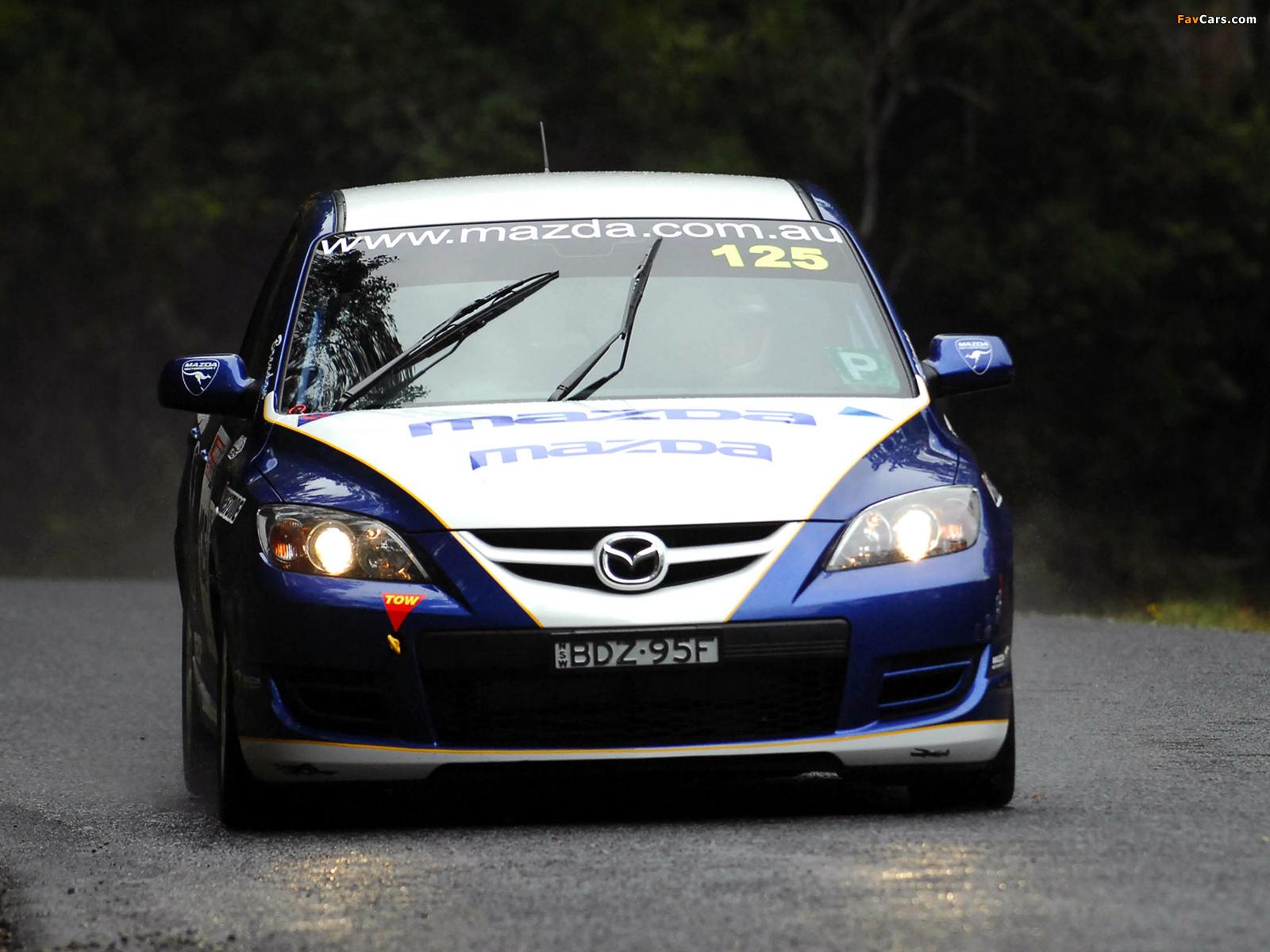 Mazda3 MPS Targa Tasmania 2007–09 photos (1600 x 1200)
