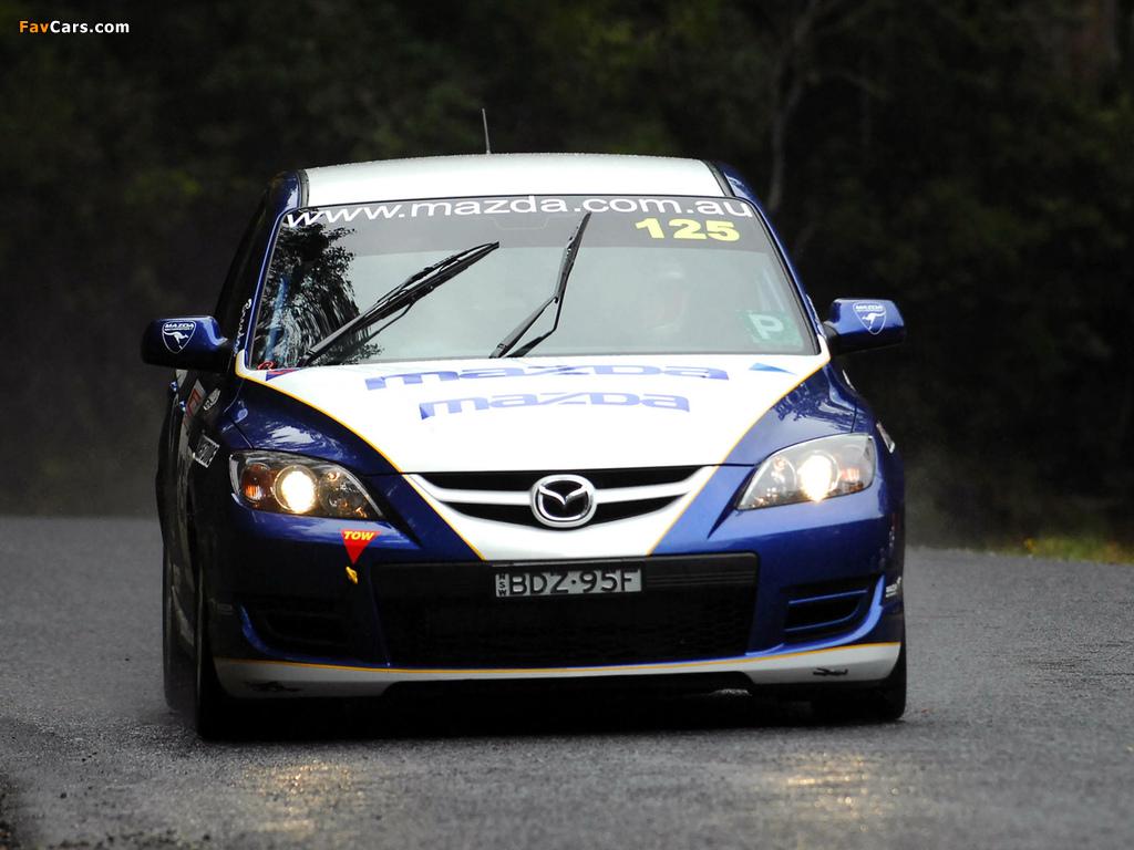 Mazda3 MPS Targa Tasmania 2007–09 photos (1024 x 768)