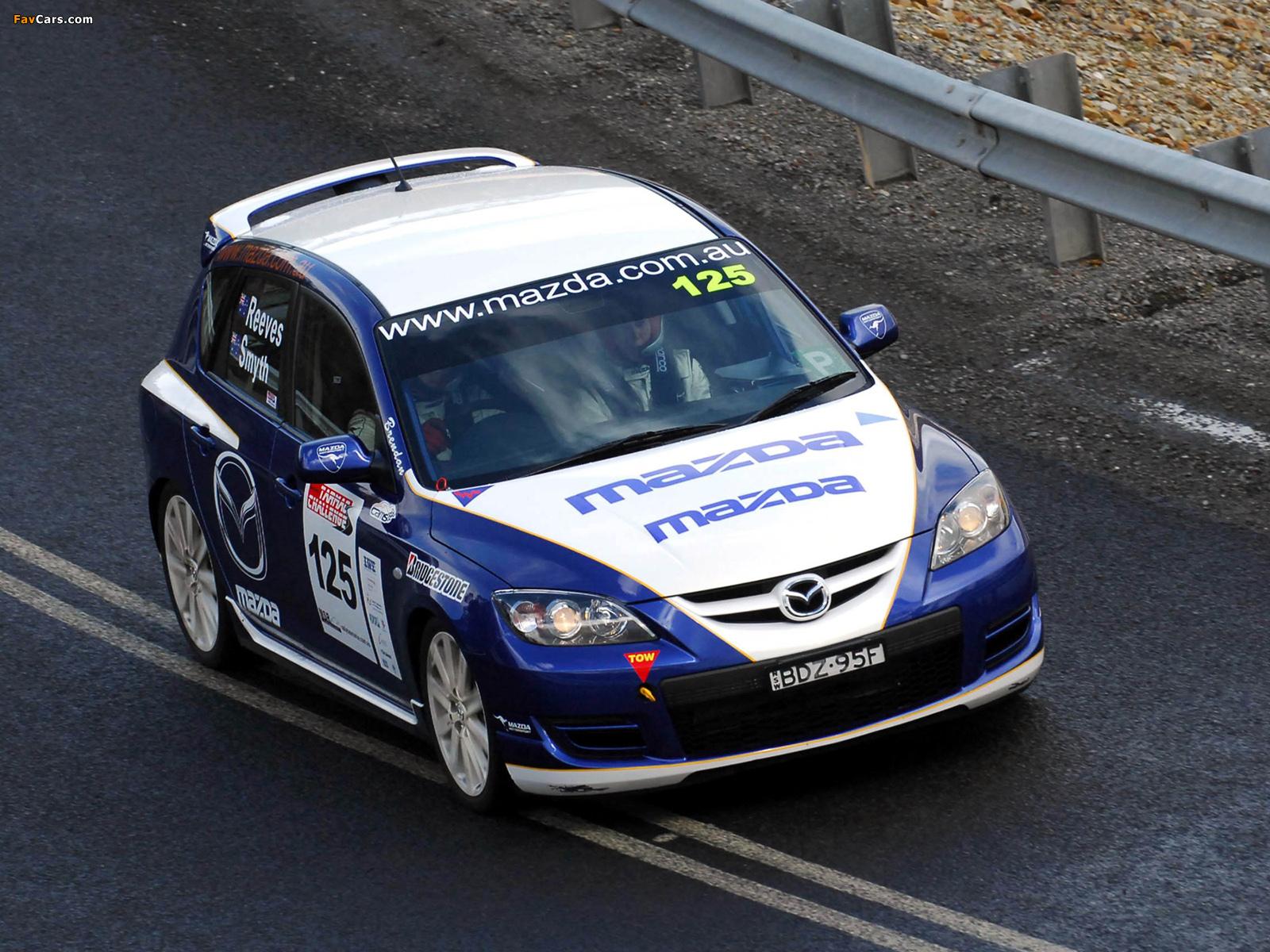 Mazda3 MPS Targa Tasmania 2007–09 wallpapers (1600 x 1200)