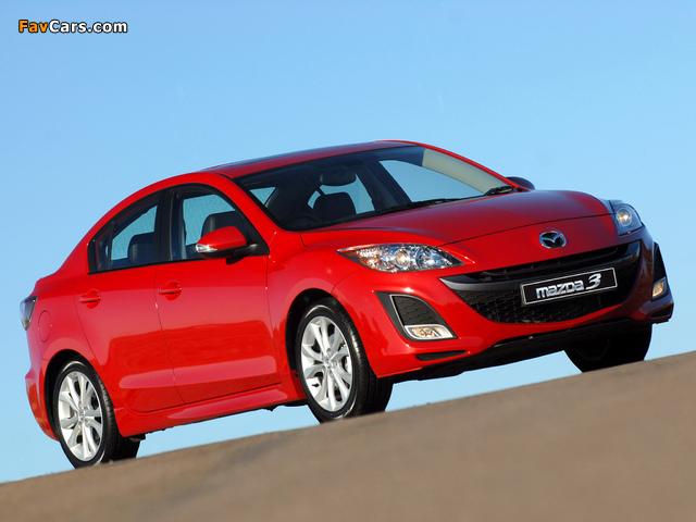 Mazda3 Sedan ZA-spec (BL) 2009–11 photos (640 x 480)