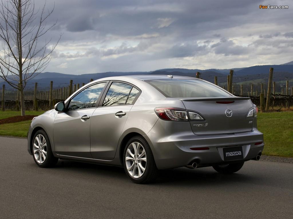 Mazda3 Sedan US-spec (BL) 2009–11 pictures (1024 x 768)