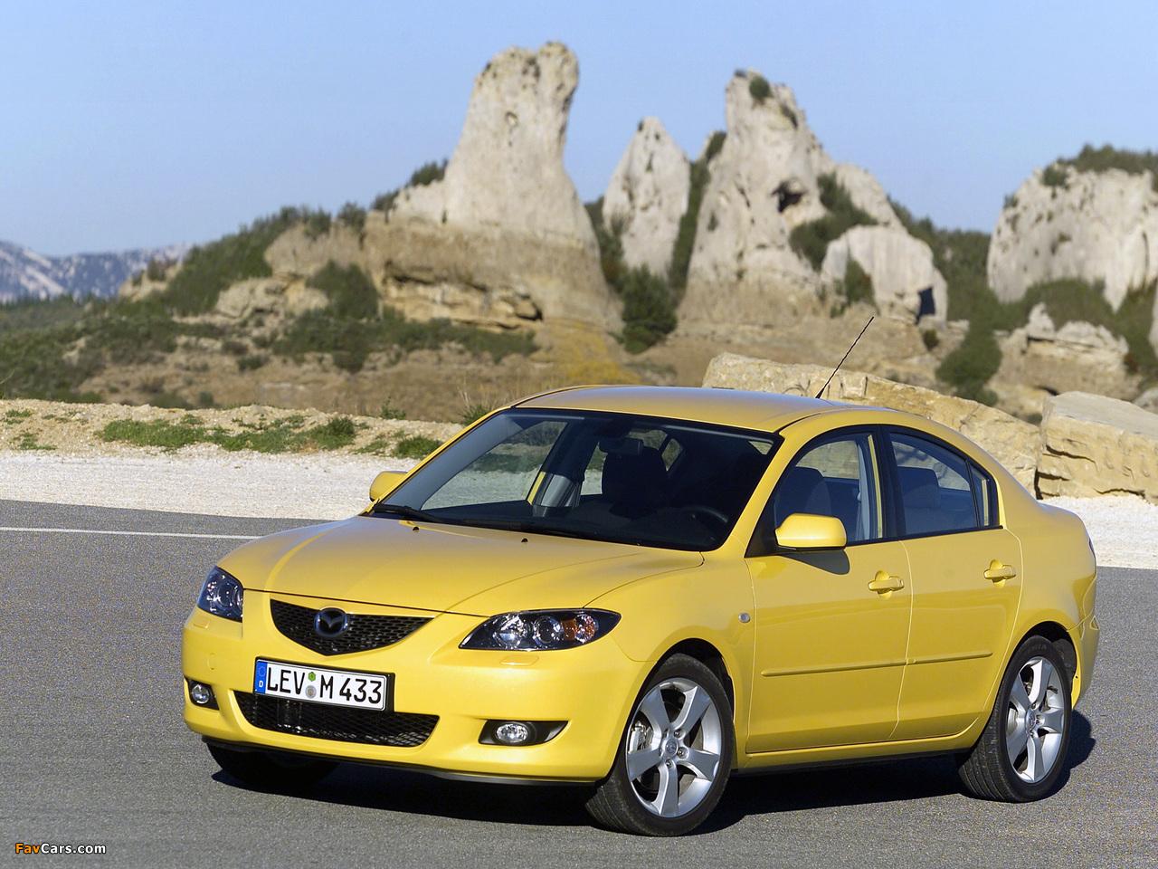 Photos of Mazda3 Sedan (BK) 2004–06 (1280 x 960)
