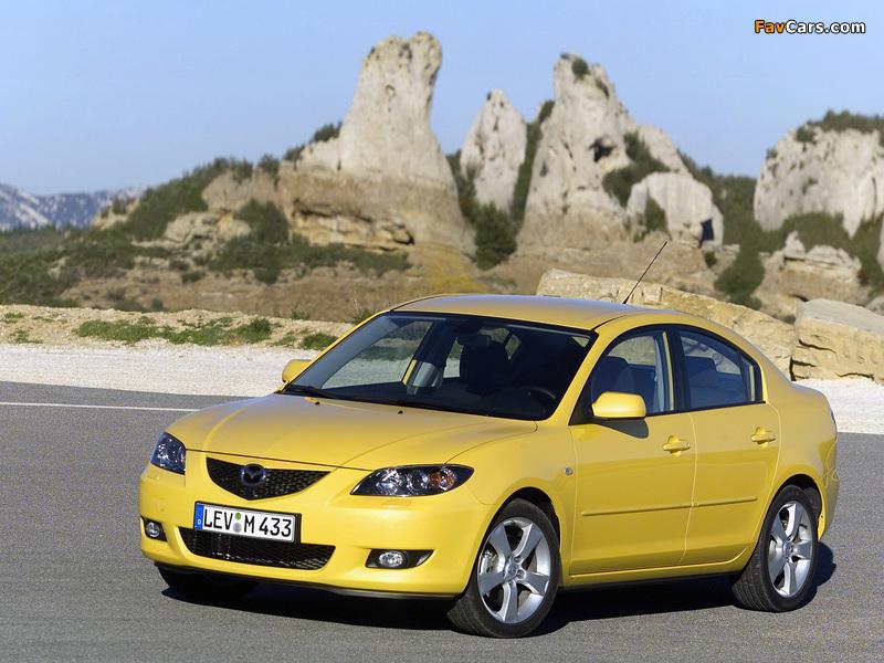 Photos of Mazda3 Sedan (BK) 2004–06 (800 x 600)