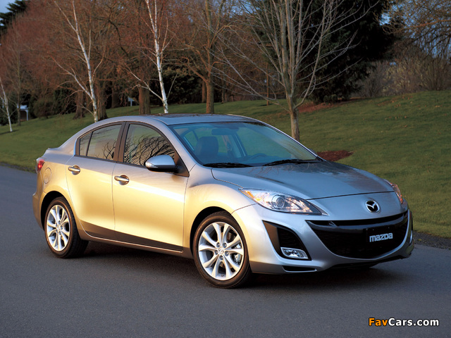 Pictures of Mazda3 Sedan US-spec (BL) 2009–11 (640 x 480)
