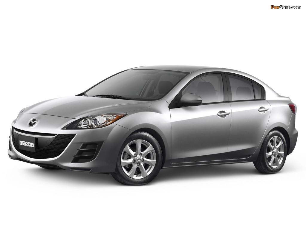 Pictures of Mazda3 Sedan US-spec (BL) 2009–11 (1024 x 768)