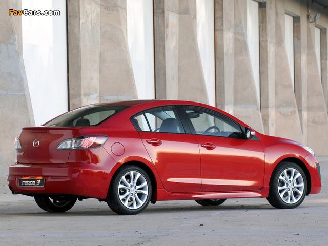 Pictures of Mazda3 Sedan ZA-spec (BL) 2009–11 (640 x 480)