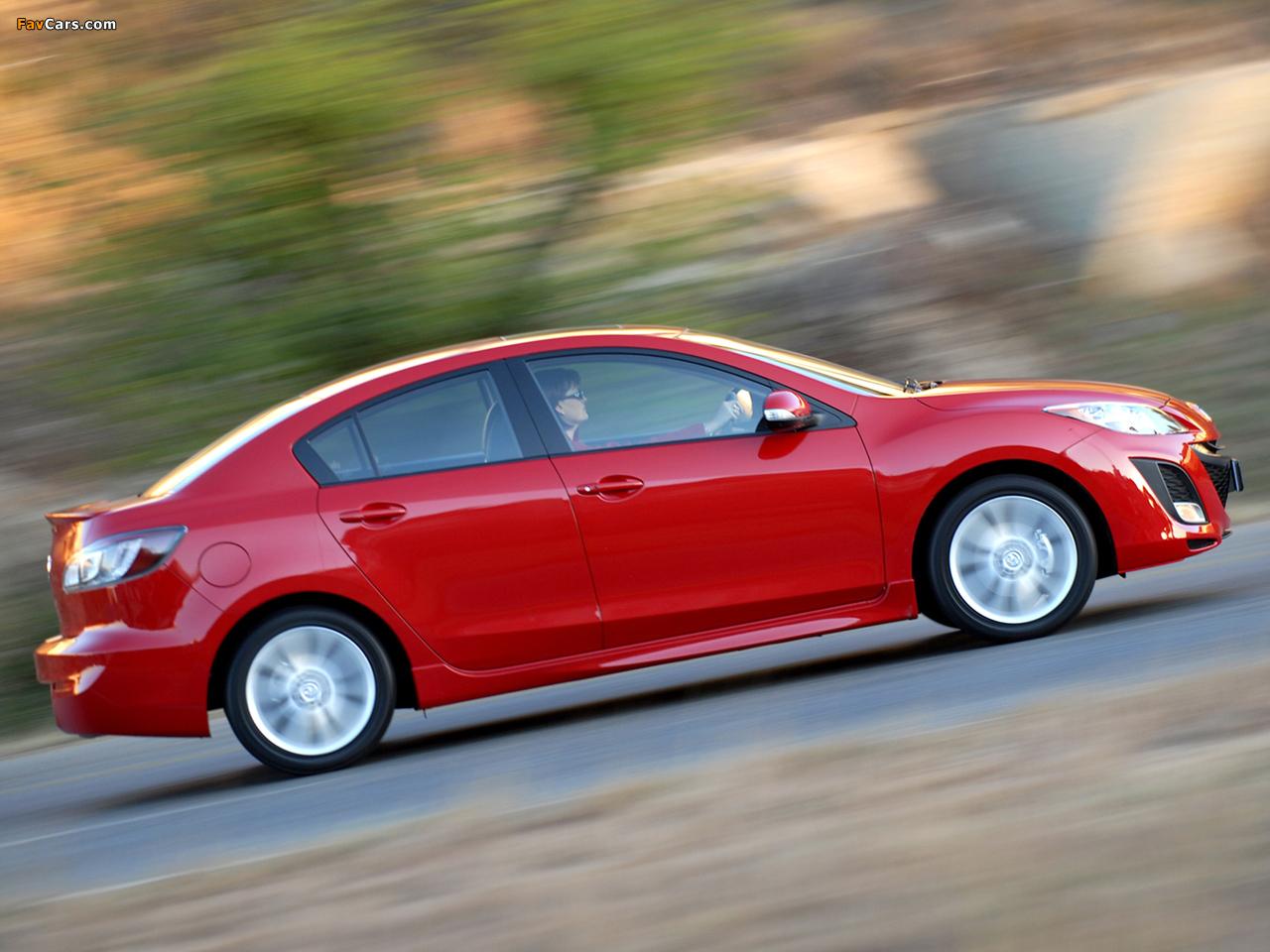 Pictures of Mazda3 Sedan ZA-spec (BL) 2009–11 (1280 x 960)