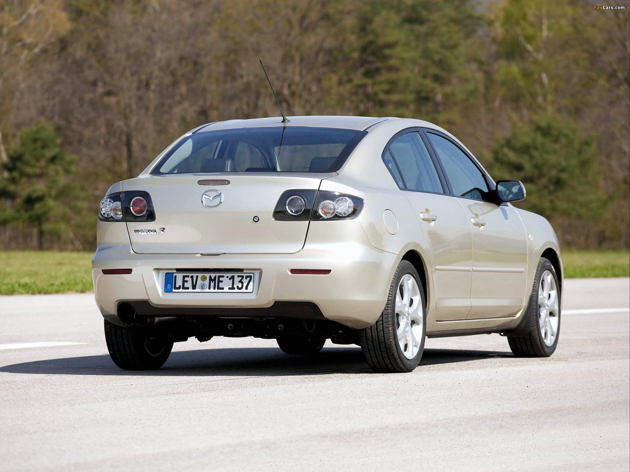 Mazda 3 Sedan 2006–09 wallpapers (2048 x 1536)