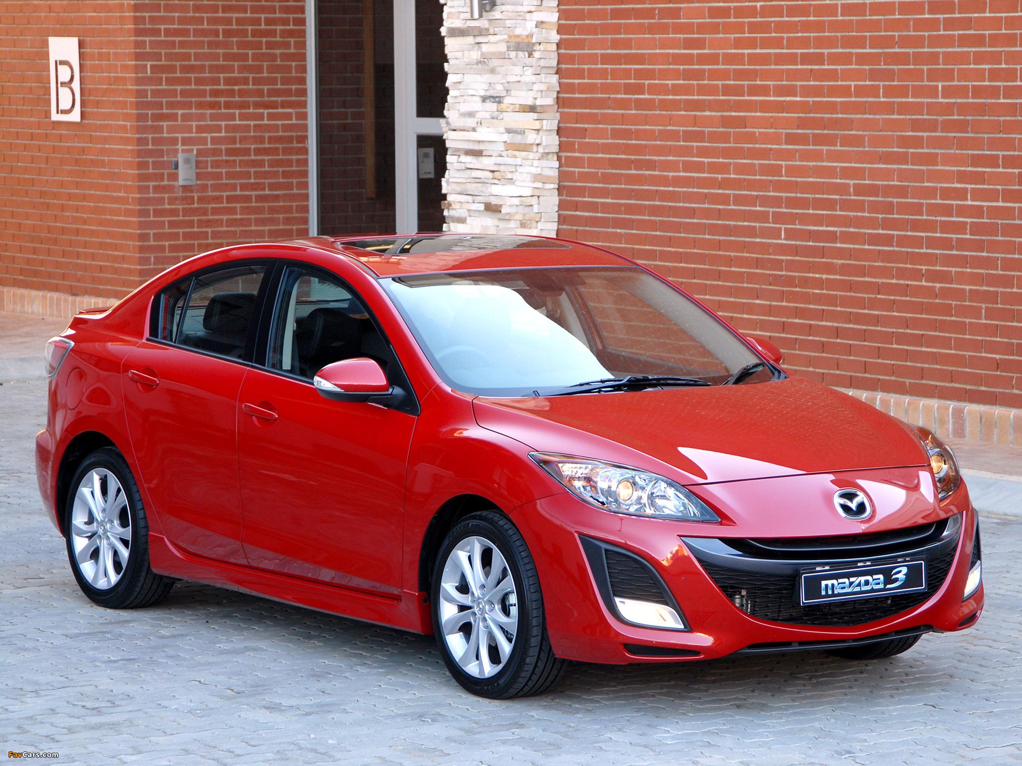 Mazda3 Sedan ZA-spec (BL) 2009–11 wallpapers (2048 x 1536)