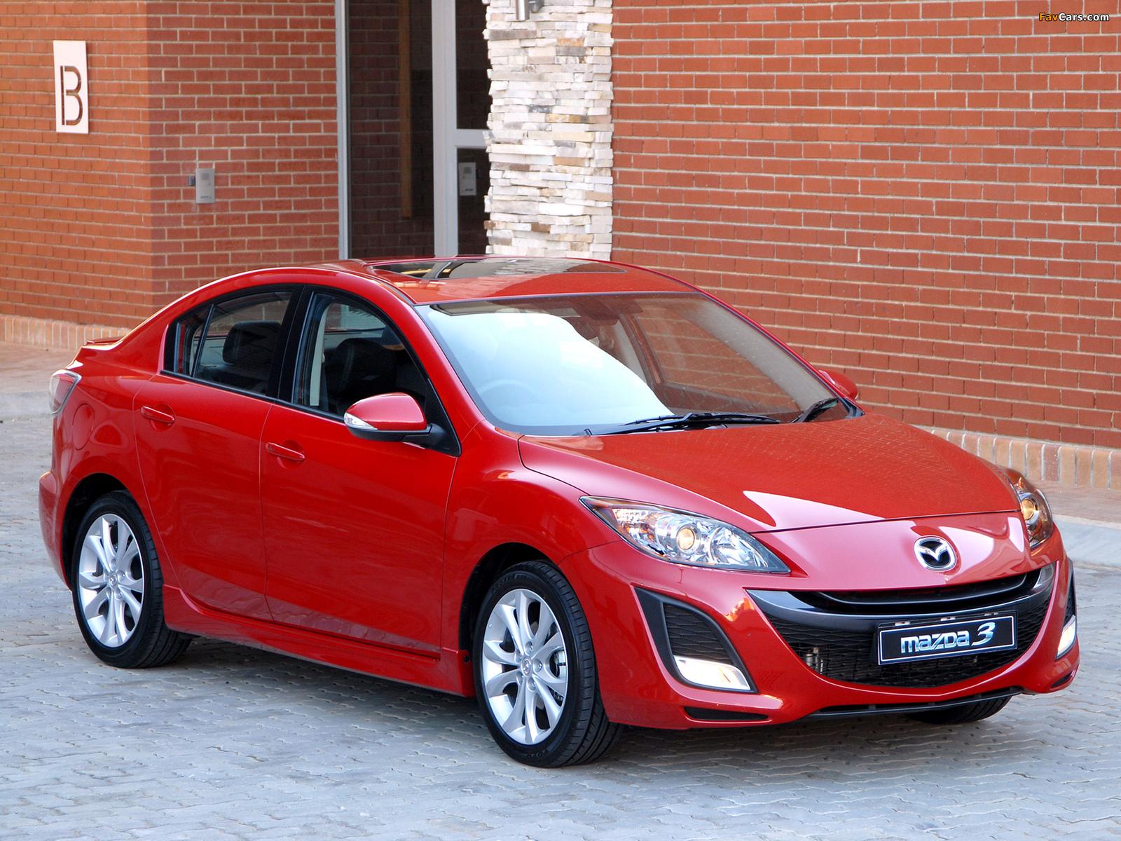Mazda3 Sedan ZA-spec (BL) 2009–11 wallpapers (1600 x 1200)