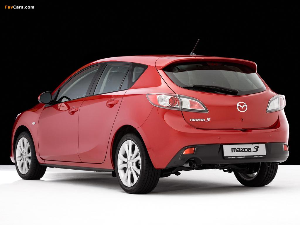 Mazda 3 Hatchback 2009–11 wallpapers (1024 x 768)