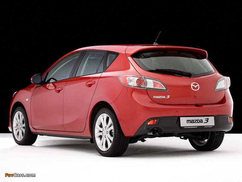 Mazda 3 Hatchback 2009–11 wallpapers (800 x 600)