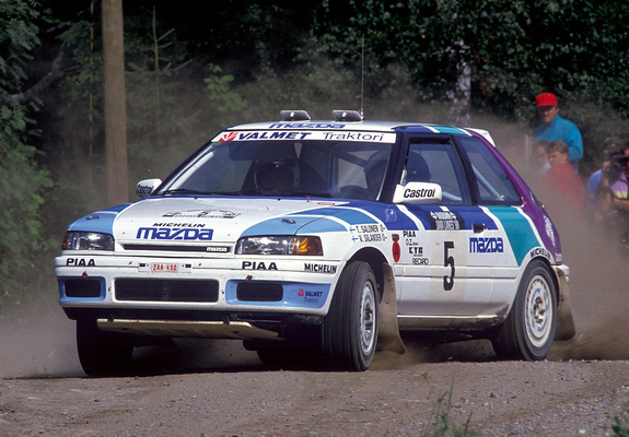 Mazda 323 4wd Rally Car Bg 1990 94 Wallpapers