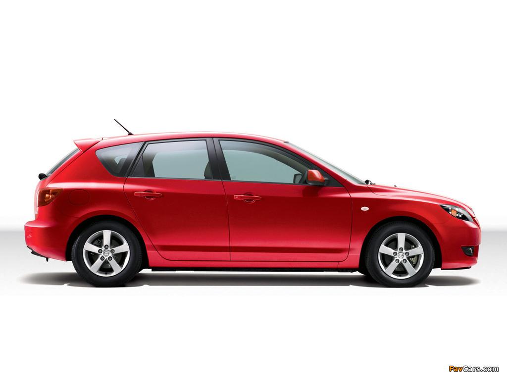 Mazda Axela Sport 20C 2003–08 wallpapers (1024 x 768)