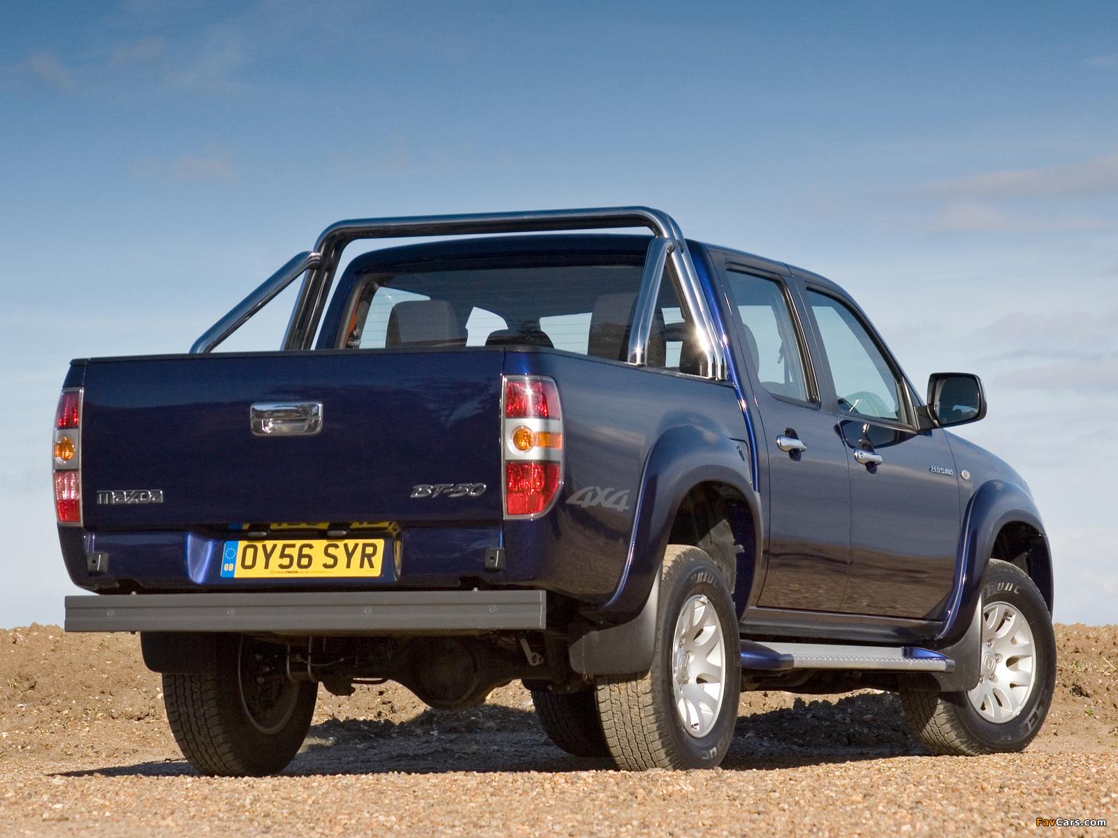 Images of Mazda BT-50 Double Cab UK-spec (J97M) 2006–08 (1600 x 1200)