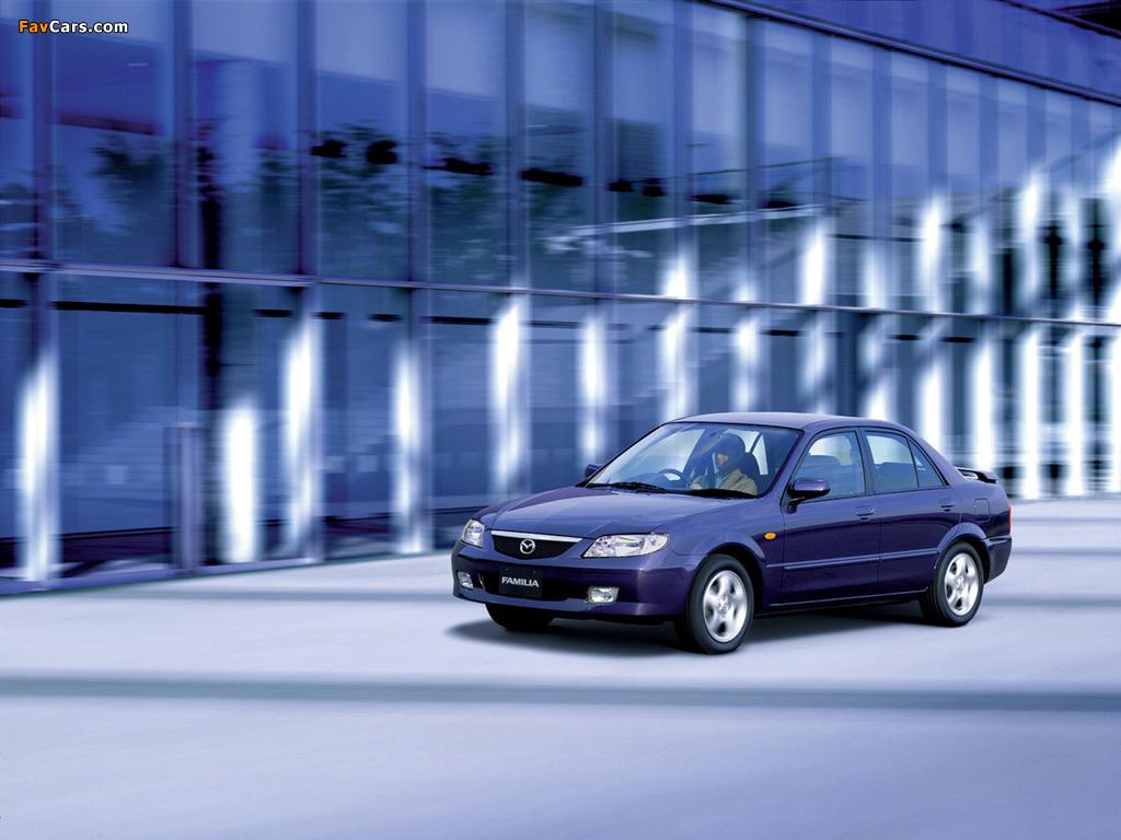 Mazda Familia RS Sedan 2000–03 photos (1024 x 768)