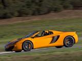 McLaren MP4-12C Spyder US-spec 2012–14 wallpapers