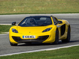 Pictures of McLaren MP4-12C Spyder UK-spec 2012–14