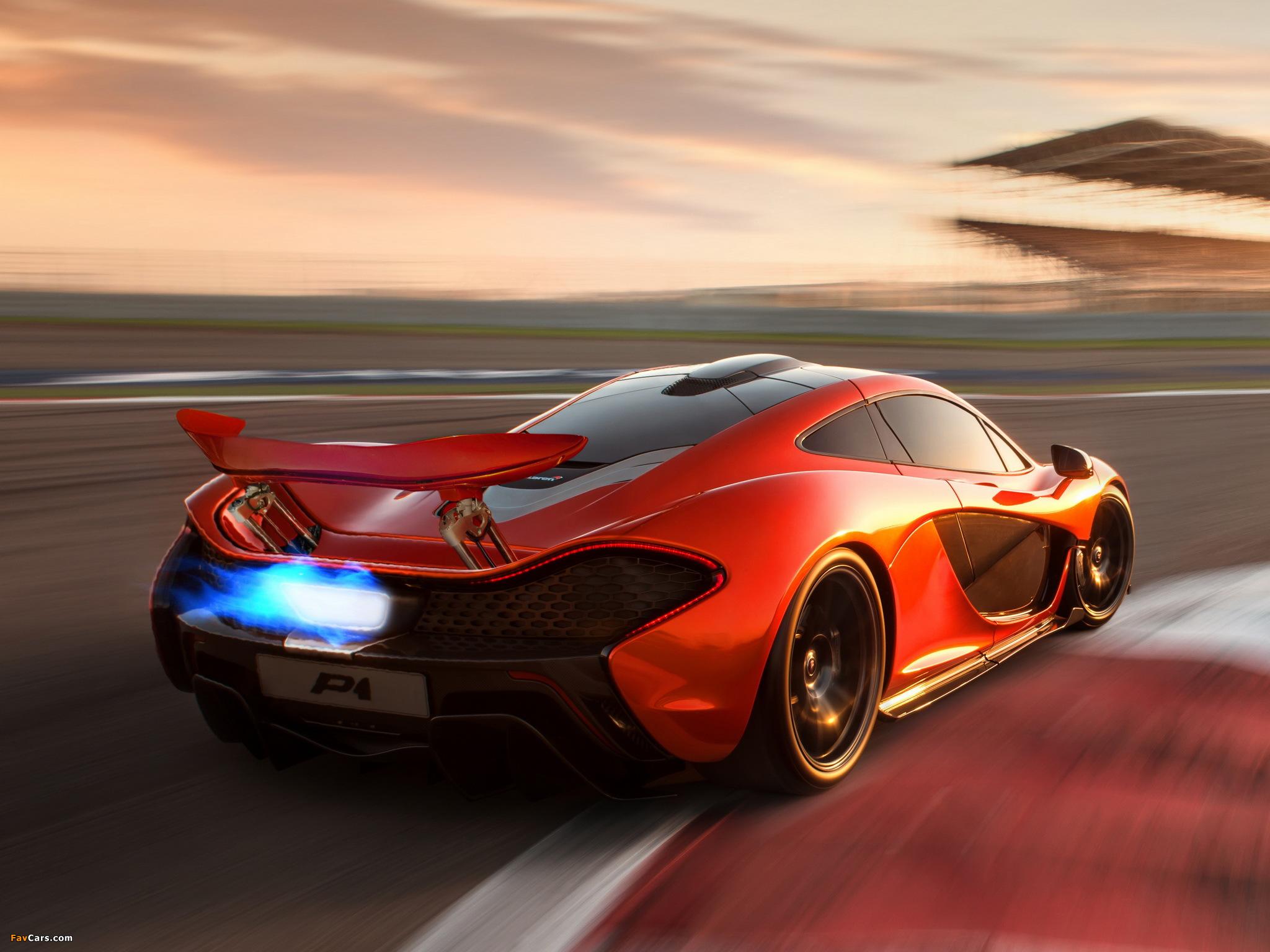 автомобиль белый спортивный McLaren P1 загрузить