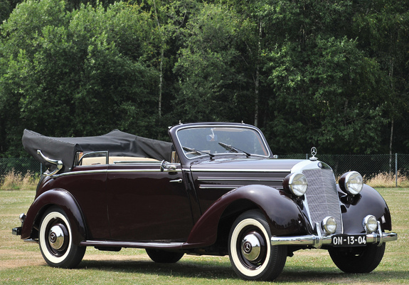 mercedes benz 170 s cabriolet b 1950 52 wallpapers. Black Bedroom Furniture Sets. Home Design Ideas