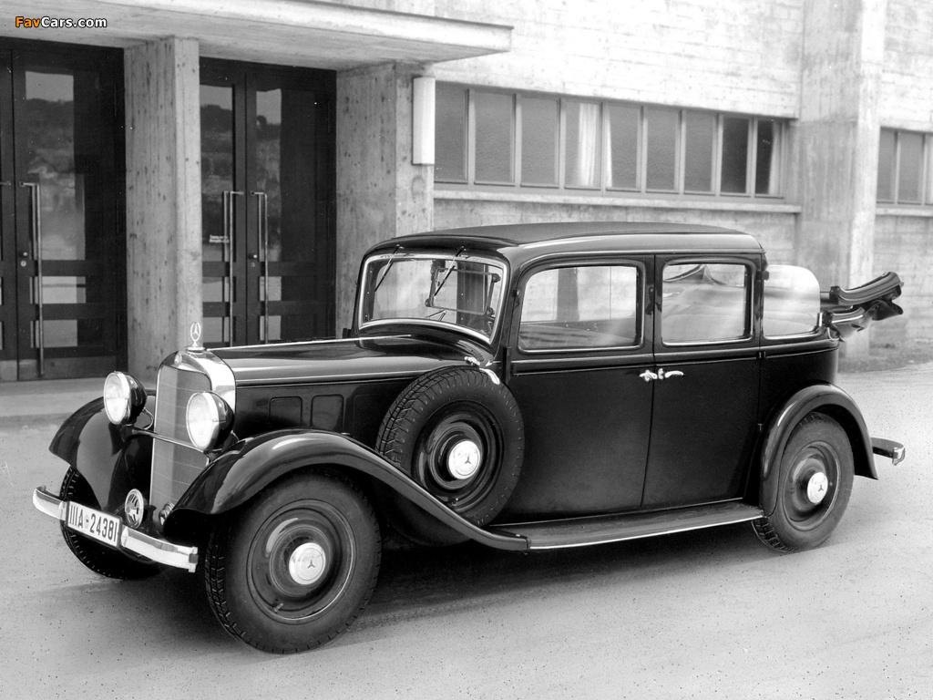 Mercedes-Benz 260D Landaulet (W138) 1936 photos (1024 x 768)