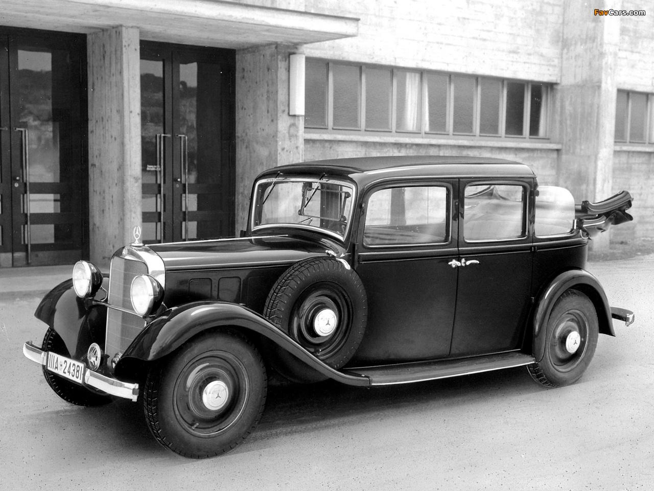 Mercedes-Benz 260D Landaulet (W138) 1936 photos (1280 x 960)