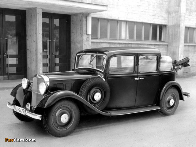 Mercedes-Benz 260D Landaulet (W138) 1936 photos (640 x 480)