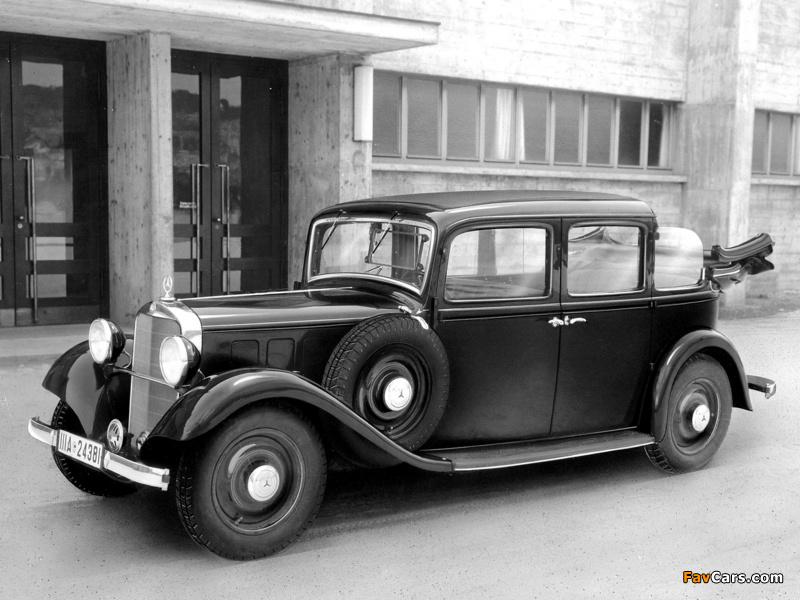 Mercedes-Benz 260D Landaulet (W138) 1936 photos (800 x 600)