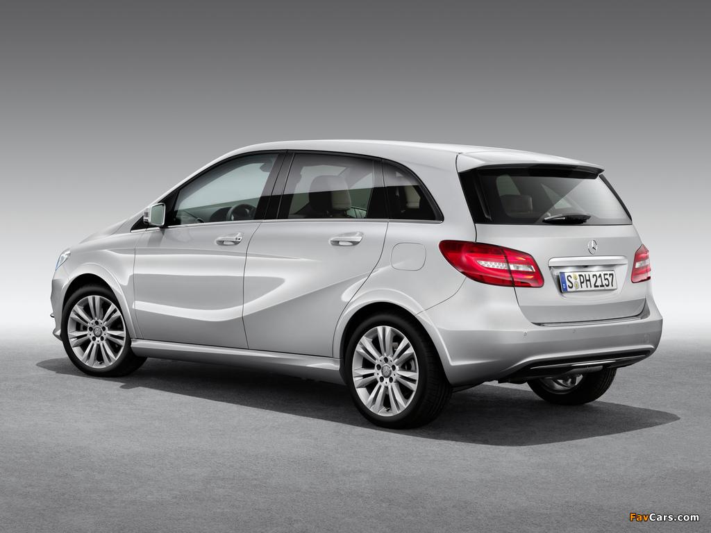 Photos of Mercedes-Benz B 200 CNG (W246) 2013 (1024 x 768)