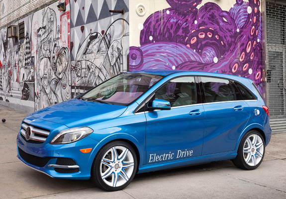 Mercedes Benz B Klasse Electric Drive Us Spec W246 2013 Wallpapers