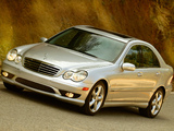 Images of Mercedes-Benz C 280 Sports Package US-spec (W203) 2005–07